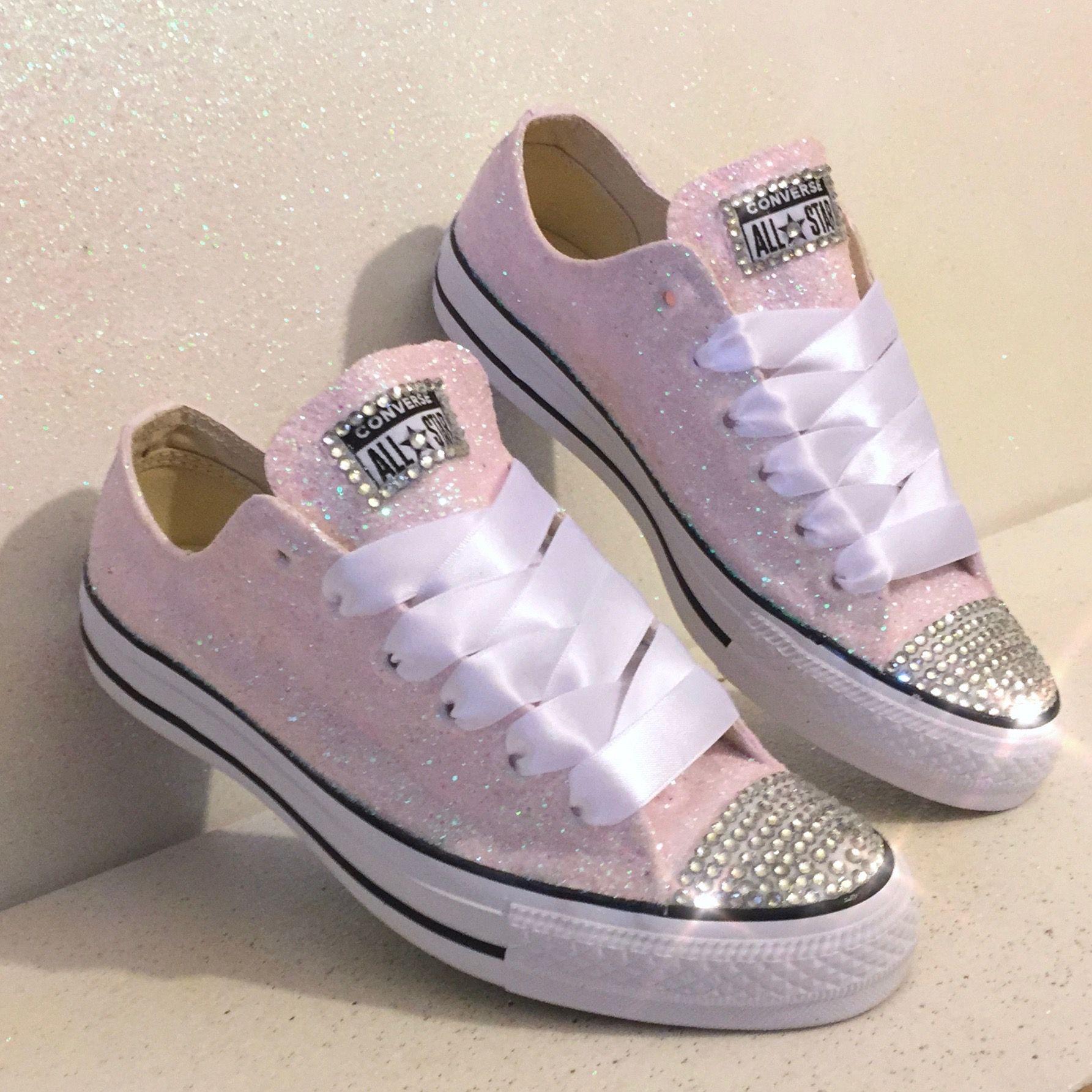 converse all star rosa glitter
