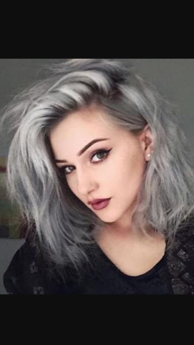 Silver grey with dark shadow root | Colors in 2019 | Grey ...