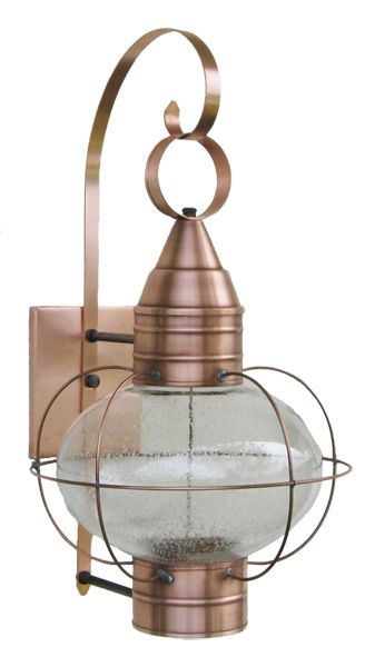 Solid Copper Onion Lamp With Seeded Glass Made At Sandwich Lantern Of Cape Cod Lamp Post Lights Seeded Glass Lights