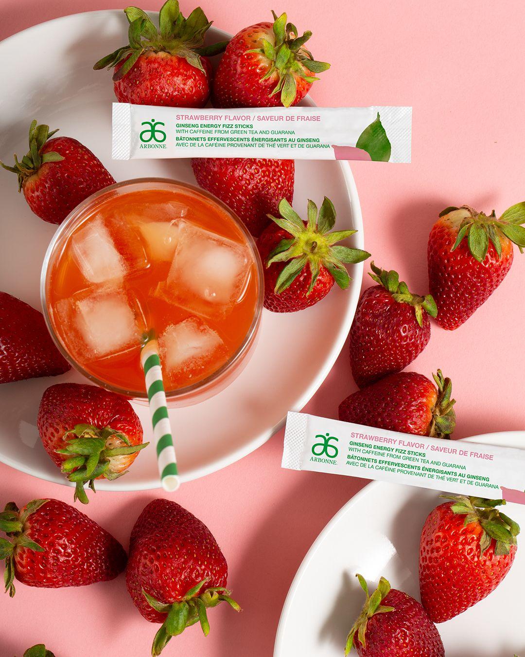 New Energy Fizz Stick Strawberry Flavor 2111 In 2020 Fizz Sticks Strawberry Fizz Arbonne Nutrition