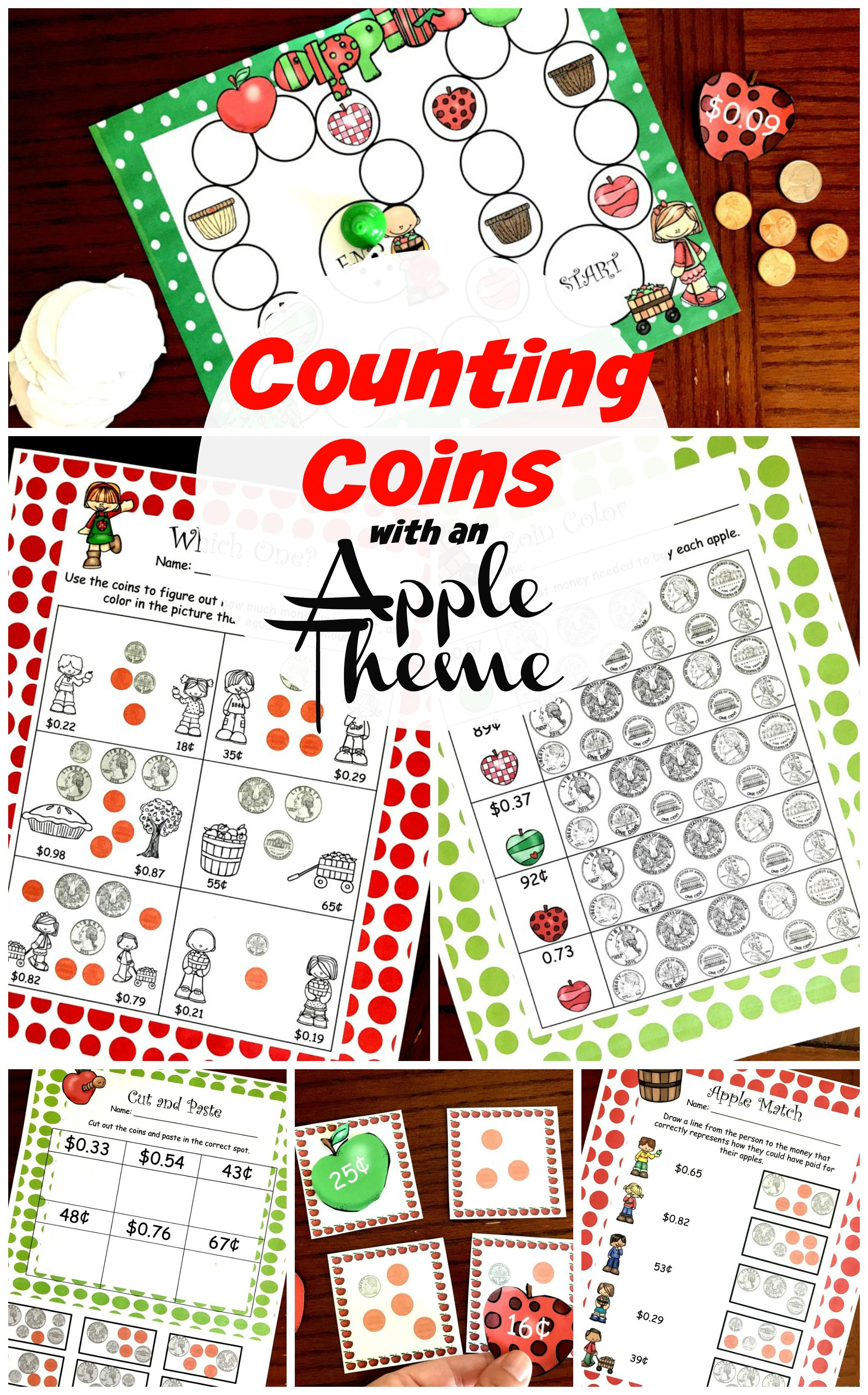 Practice Counting Coins With A Game Coin Match And Four Worksheets Two Worksheets Are Coloring Sheets Counting Coins Activities Counting Coins Money Games [ 3400 x 2117 Pixel ]