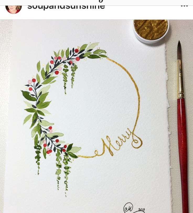 Art - Wreaths Merry drawing painting - New Ideas #wreaths