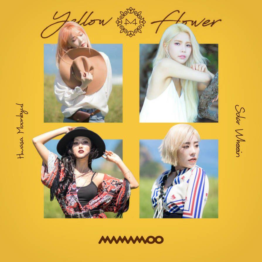 Mamamoo Starry Night Yellow Flower Album Cover By Lealbum Album Covers Mamamoo Album Mamamoo Moonbyul