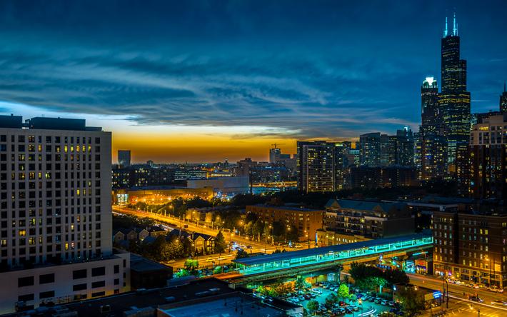 Télécharger Fonds Décran Chicago Les Paysages Nocturnes