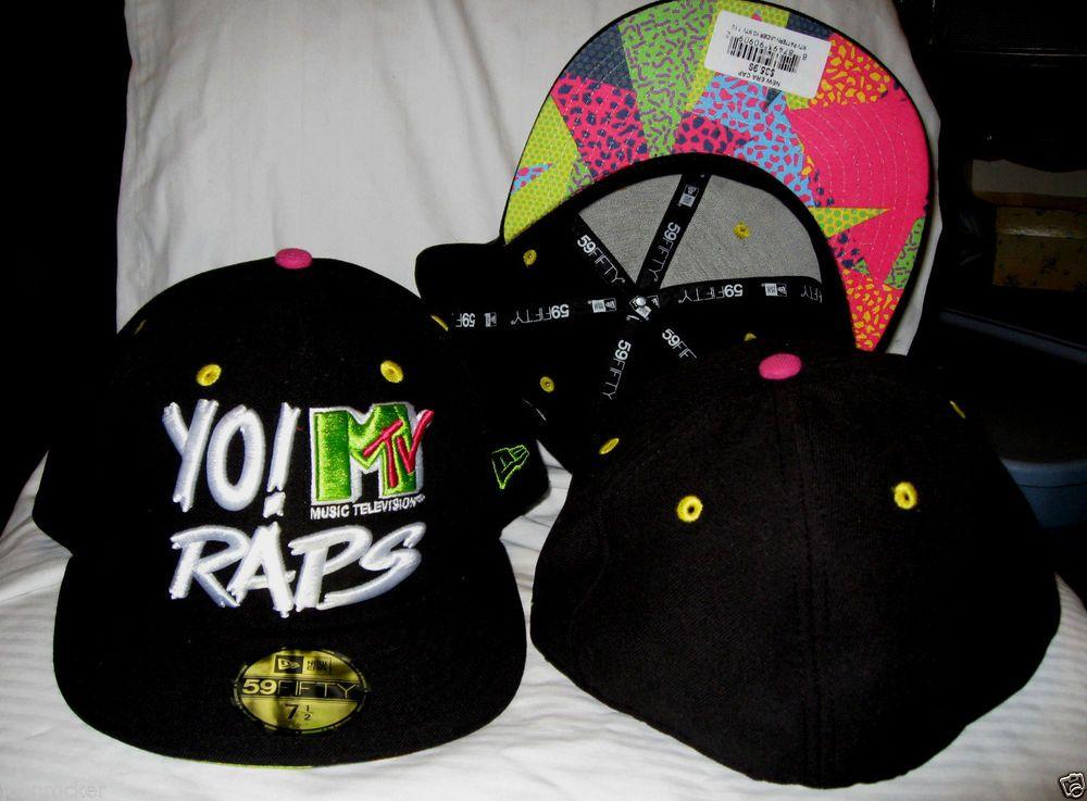 4360c808f98 YO MTV RAPS NEW ERA 59FIFTY LIMITED EDITION BLACK FITTED HAT CAP SZ 7-3 8  NWT  59Fifty  BaseballCap