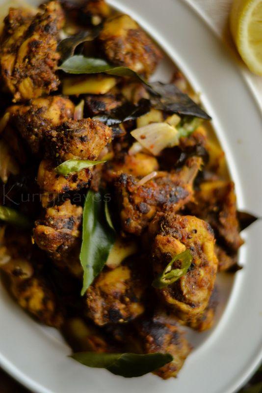 Easy Chicken Pepper Fry Kerala Chicken Kurumulaku Fry