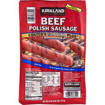 Kirkland Beef Dinner Franks Polish Sausage Polish Sausage Sausage Beef Dinner