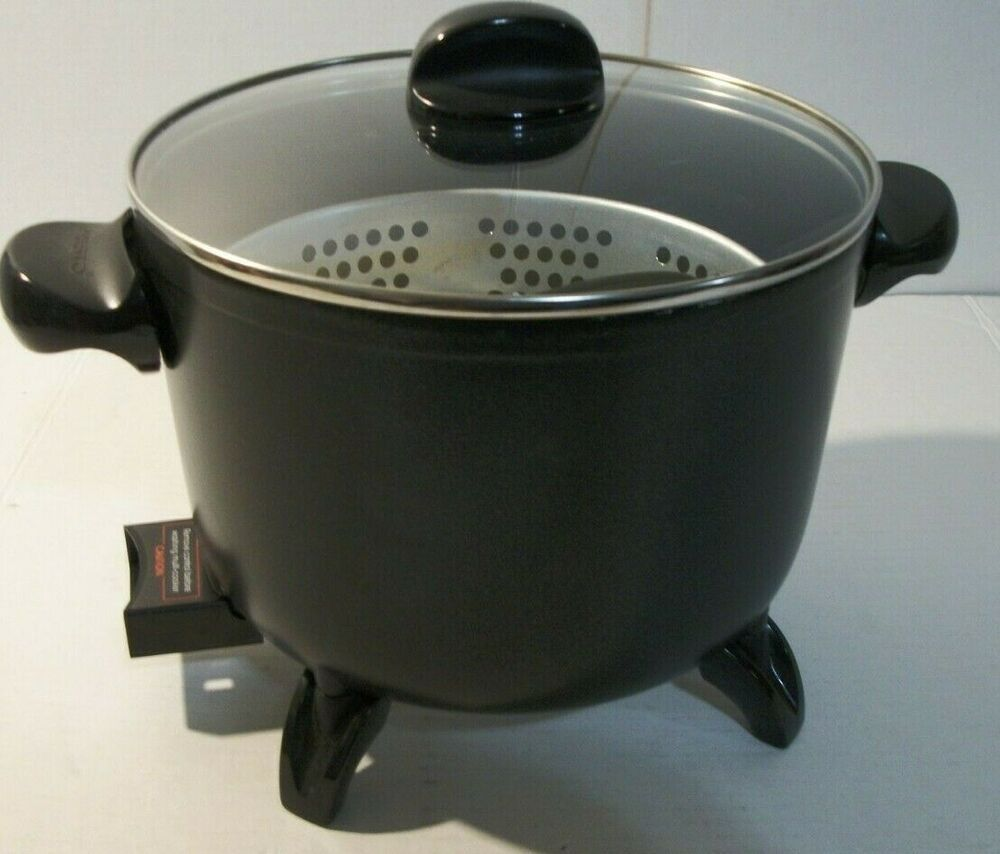Presto Kitchen Kettle 6 Qt 1300 Watt Multi Cooker Deep Fryer