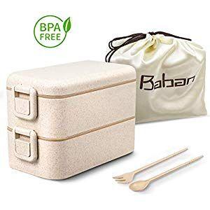 Baban Lunchbox zweifach versiegelte Brotdose mit Gabel