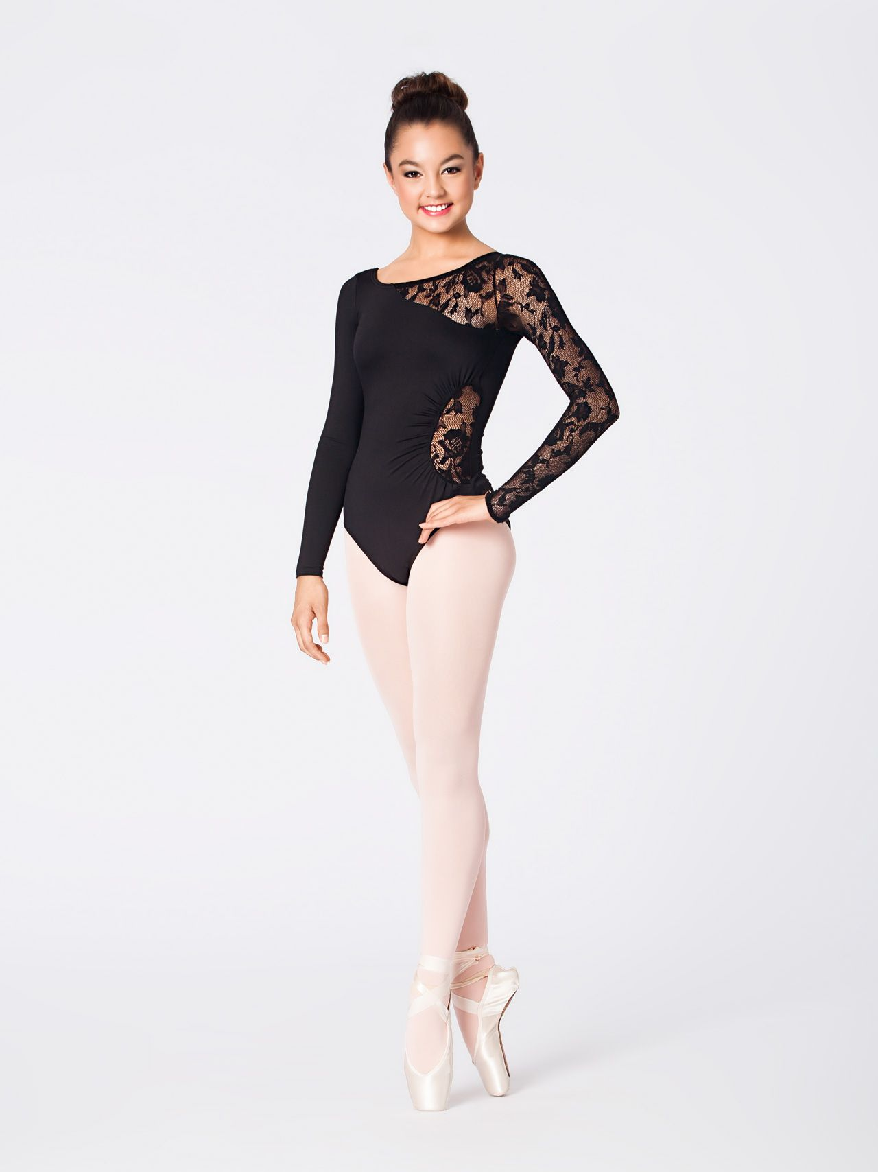 9371372e28390 Adult Lace Detail Long Sleeve Leotard in 2019 | leos. | Ballet ...