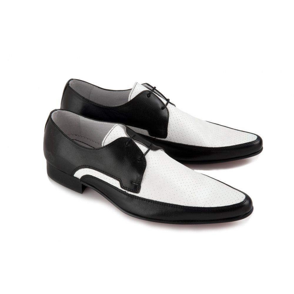 Black and white dress shoes for mens