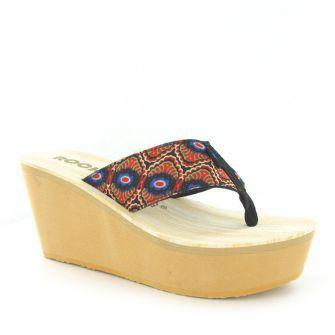 802982516c5e 30% OFF -  rocketdog  uk Diver Cream Fancy Wedge Flip Flops  european   store  sandals  sneakers  boots  shoes  bags