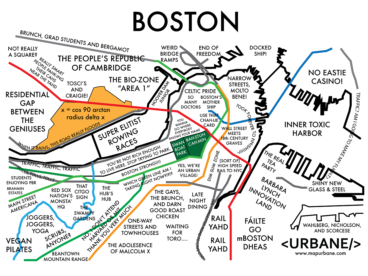 boston map posters