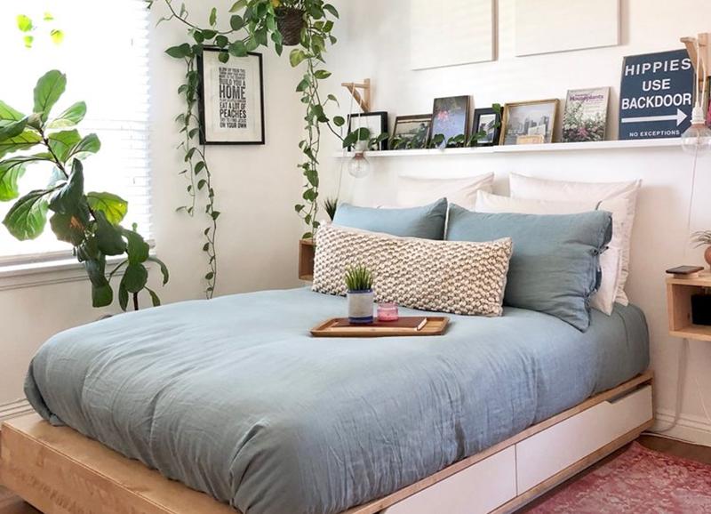 Trend Een Houten Bed In Je Slaapkamer Houten Bed Minimalistisch Huis Een Slaapkamer Inrichten