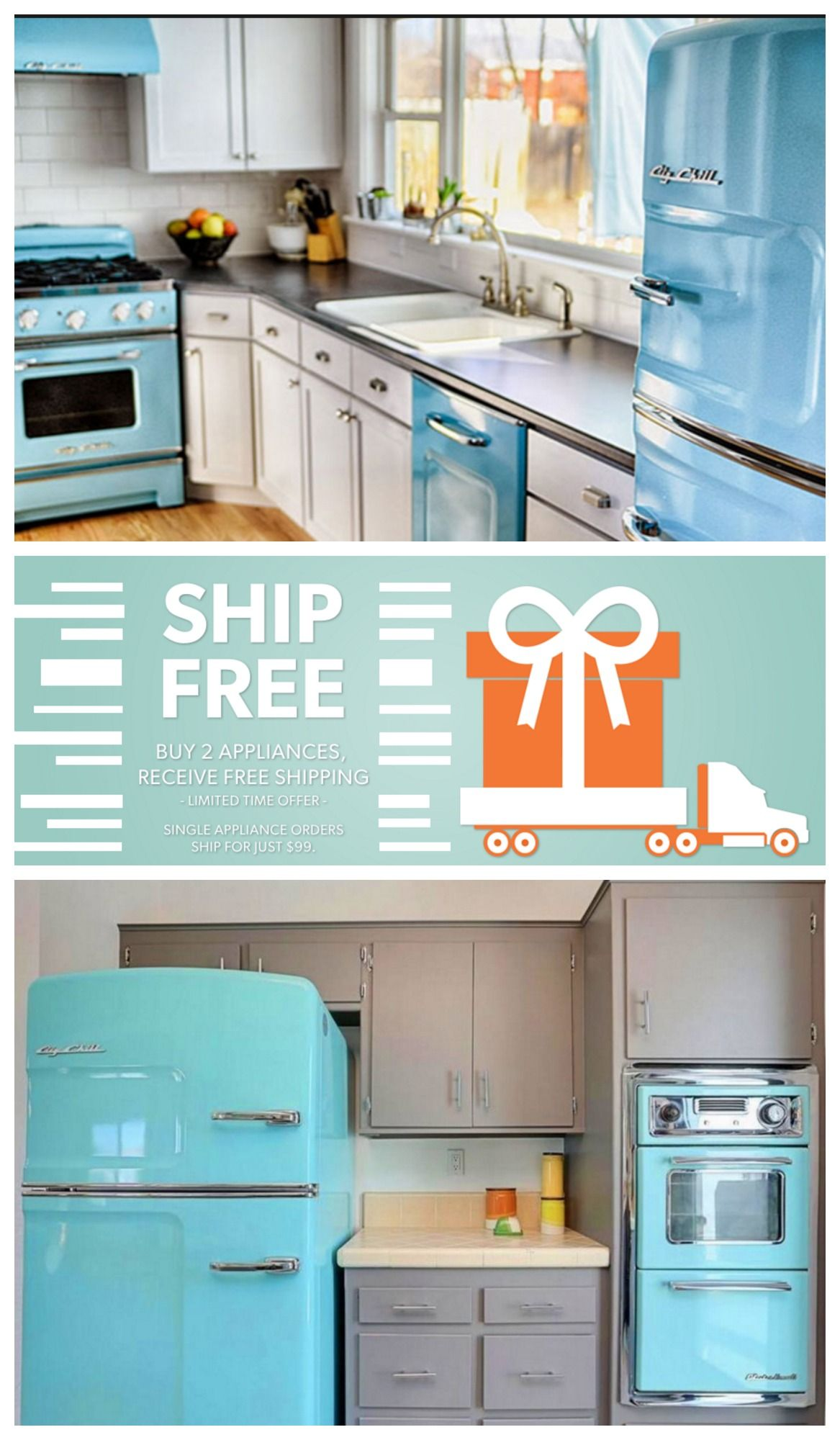 SHIP FREE! Buy 2 Big Chill appliances and receive FREE shipping ...
