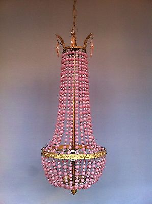 Vintage Antique Crystal 19th century Chandelier Nouveau Old Lamp Brass Lustre | eBay