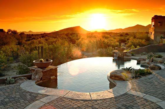 Top Rated Arizona Pool Builder California Pools Landscape California Pools Arizona Backyard Pool Landscaping