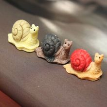 Miniature Snails Ornaments Potted Flower Plant Craft DIY Decoration Garden New fairy World Decoration(China (Mainland))