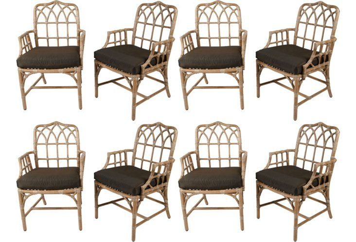 Amazing 6 McGuire Rattan Cathedral Back Chairs | Palm Beach Regency | Pinterest |  Rattan, Beach Kitchens And Vintage Furniture