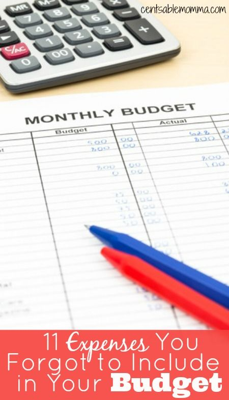 11 Expenses You Forgot to Include in Your Budget Frugal living and