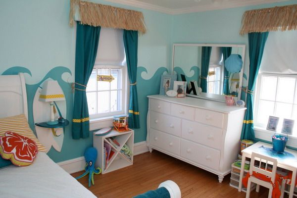 Girls Bedroom Design with Ocean Theme Picture Taylor  Emma