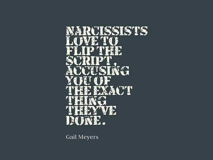 Image result for narcissist flip script