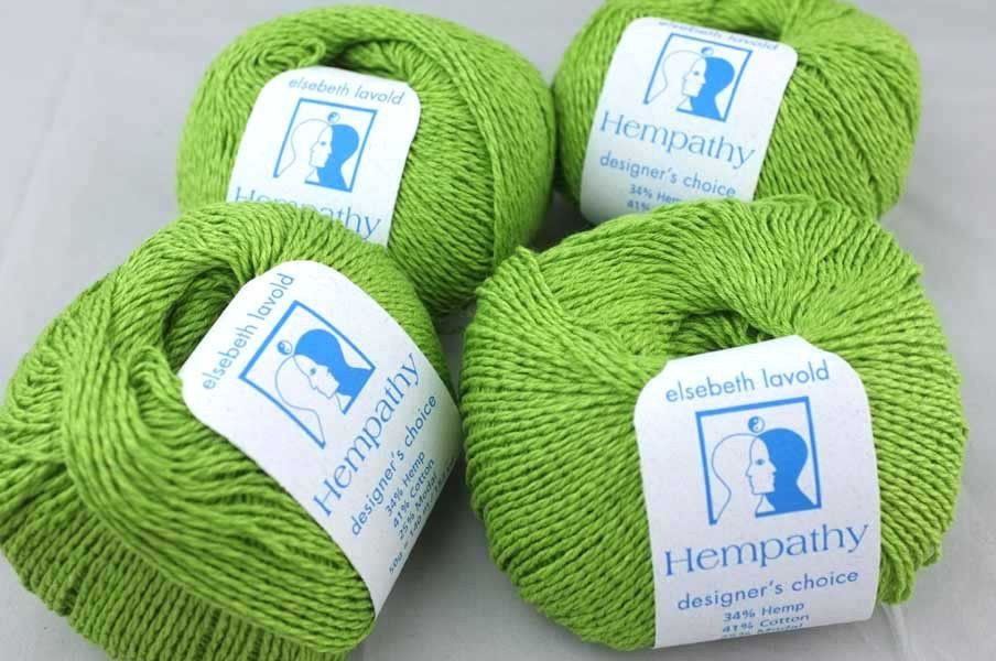 Hempathy no 59, Spring Green, hemp, cotton, modal yarn
