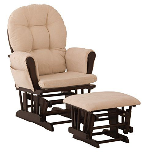 Stork Craft Hoop Glider and Ottoman Set, Espresso/Beige #Best ...