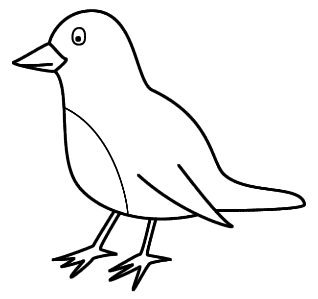 Red Robin Coloring Page | Dibujos | Pinterest | Robins and Bird