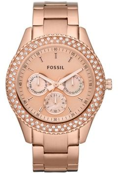 Shop Fossil Stella Stone Set Rose Gold Plated Stainless Steel Bracelet  Ladies Watch Free delivery on eligible orders of or more.