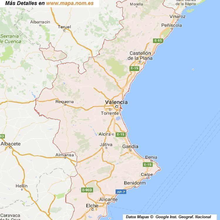 Mapa Fisico Comunitat Valenciana.Mapa Comunidad Valenciana Con Detalle De Sus Tres Provincias Alicane Castellon Y Valencia Y Mapas De Todos Los En 2020 Mapa Comunidad Valenciana Mapas Mapa De Espana