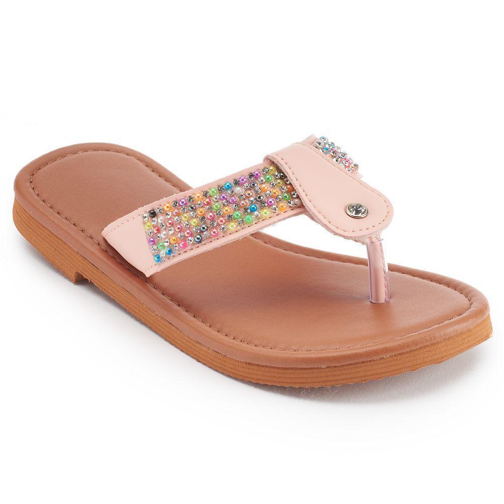299bdaaac678e Girls 4-16 Beaded T-Strap Sandals