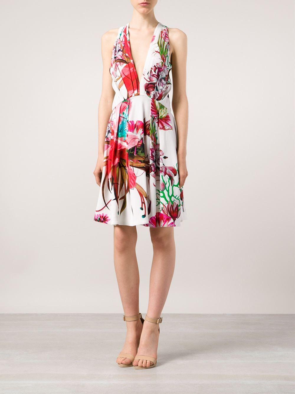Roberto Cavalli Vestido Con Estampado Floral