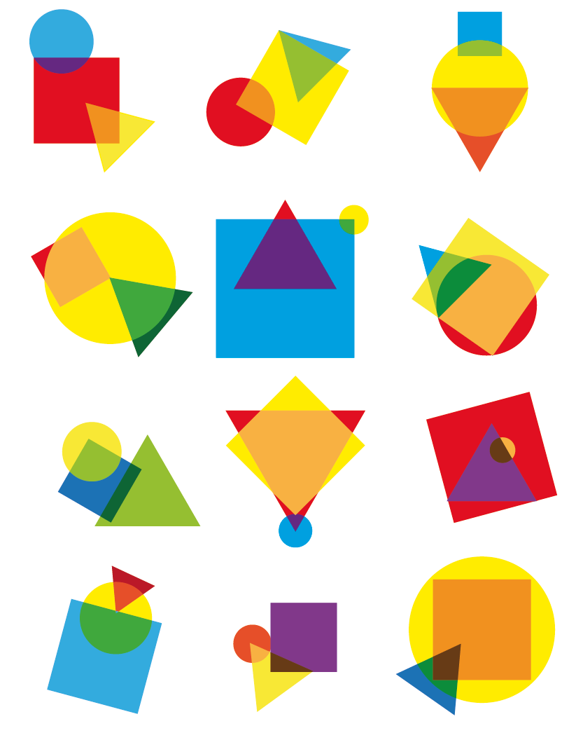 2d Composition Geometric Shapes Designs