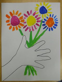 Picasso Flowers With Images Spring Art Projects First Grade