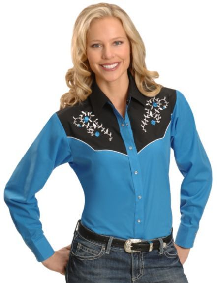 Ely Women's Floral Vine Western Shirt available at #Sheplers