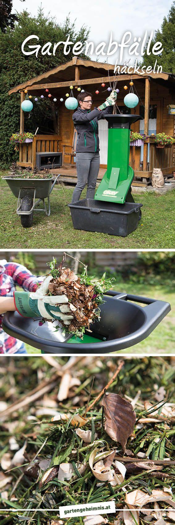 Gartenabfalle Hackseln Verwerten Egal Ob Du Einen Kleinen Oder Grossen Garten Hast Wo Baume Und Straucher Wachsen Fallen Auch Gartenabfall Garten Abfall