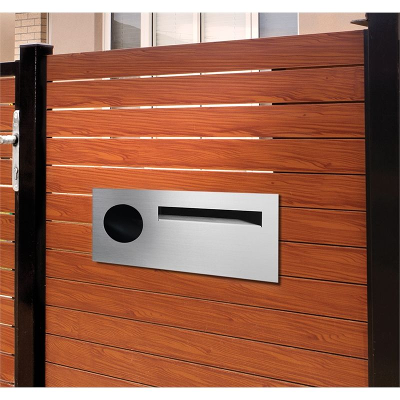 Sandleford Stainless Steel Lombard Fence Mounted Letterbox With