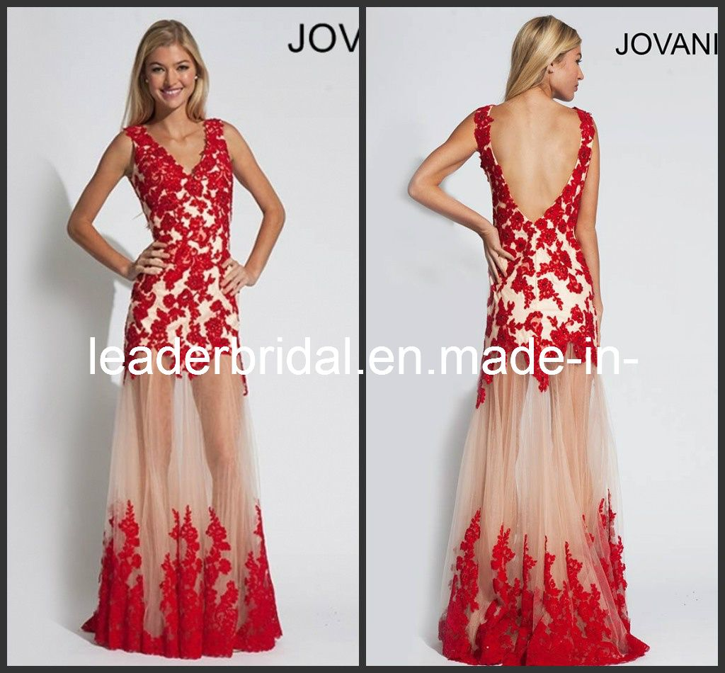 Prom dresses black and red laces