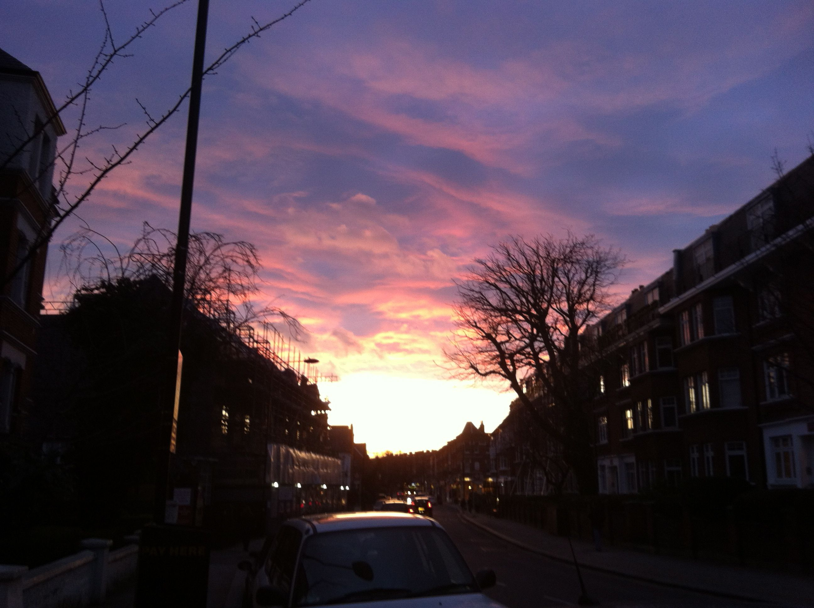 West Hampstead purple sunset