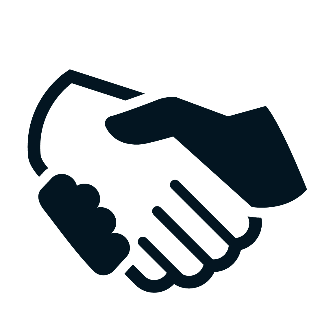 Example for the handshake icon element of the logo ...