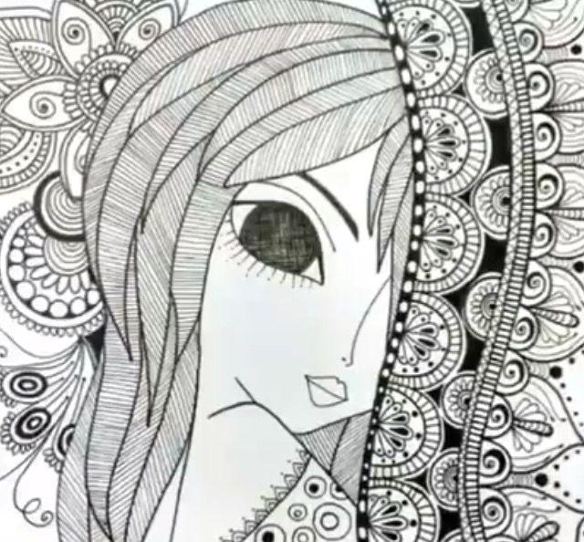 Pin de Antonieta Torres en Rominas   Pinterest   Zentangle, Art girl ...