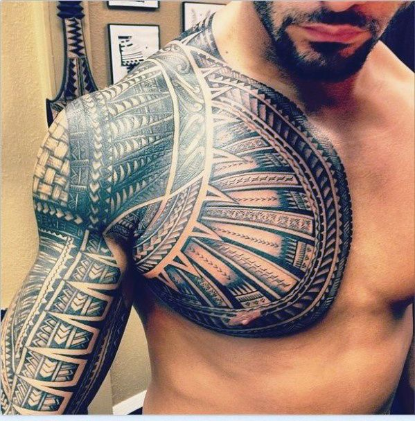 Sleeve Men Chest Tattoo Ideas Cool Chest Tattoos Tribal Tattoos For Men Chest Tattoo Men