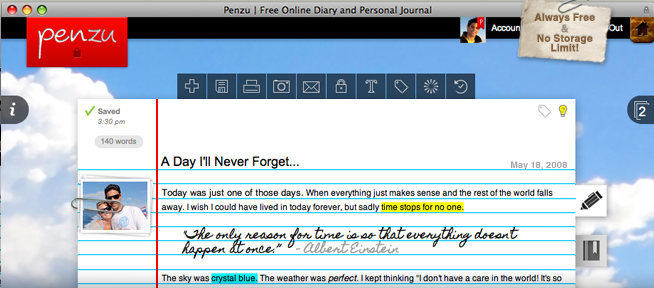 penzu http penzu com penzu is an online diary and personal