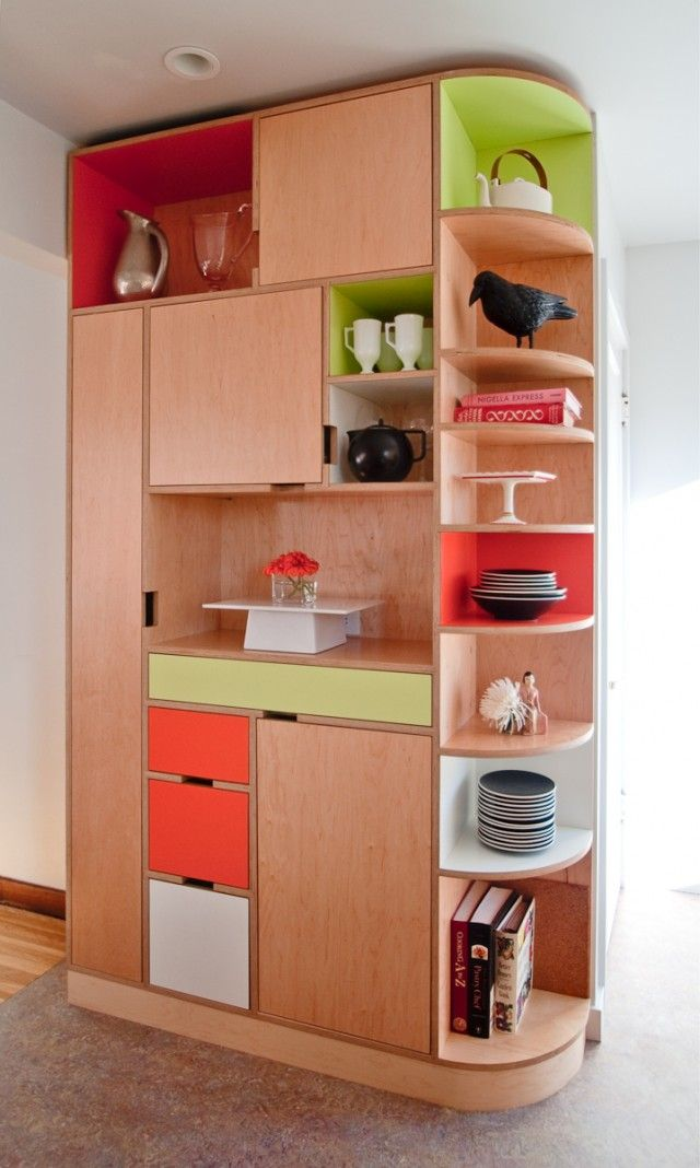 more beautilful built-in joinery thats modular and boxy ...