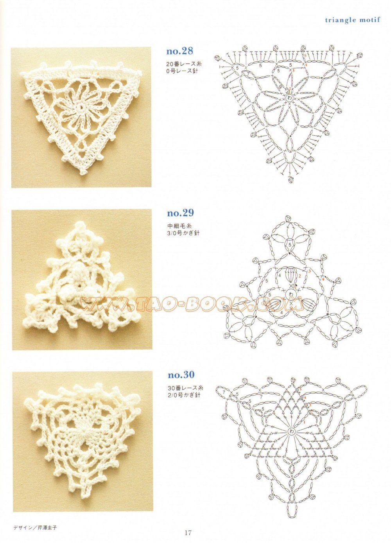 Triangulos de Crochet | Patrones | Pinterest | Croché, Ganchillo y ...