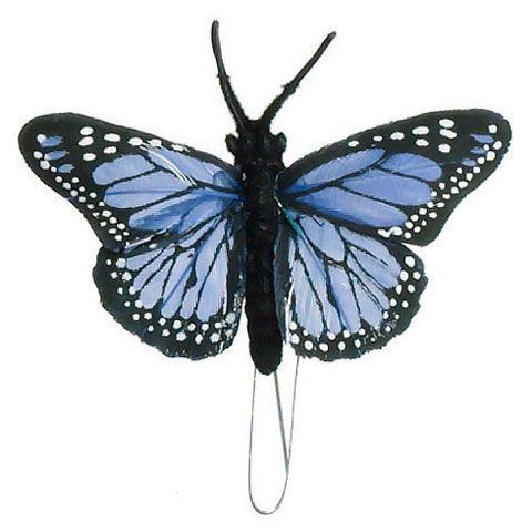 Blue Monarch Butterfly | ... Butterflies > Craft Butterflies > Butterfly-Blue Monarch-2.5 x 1 inch