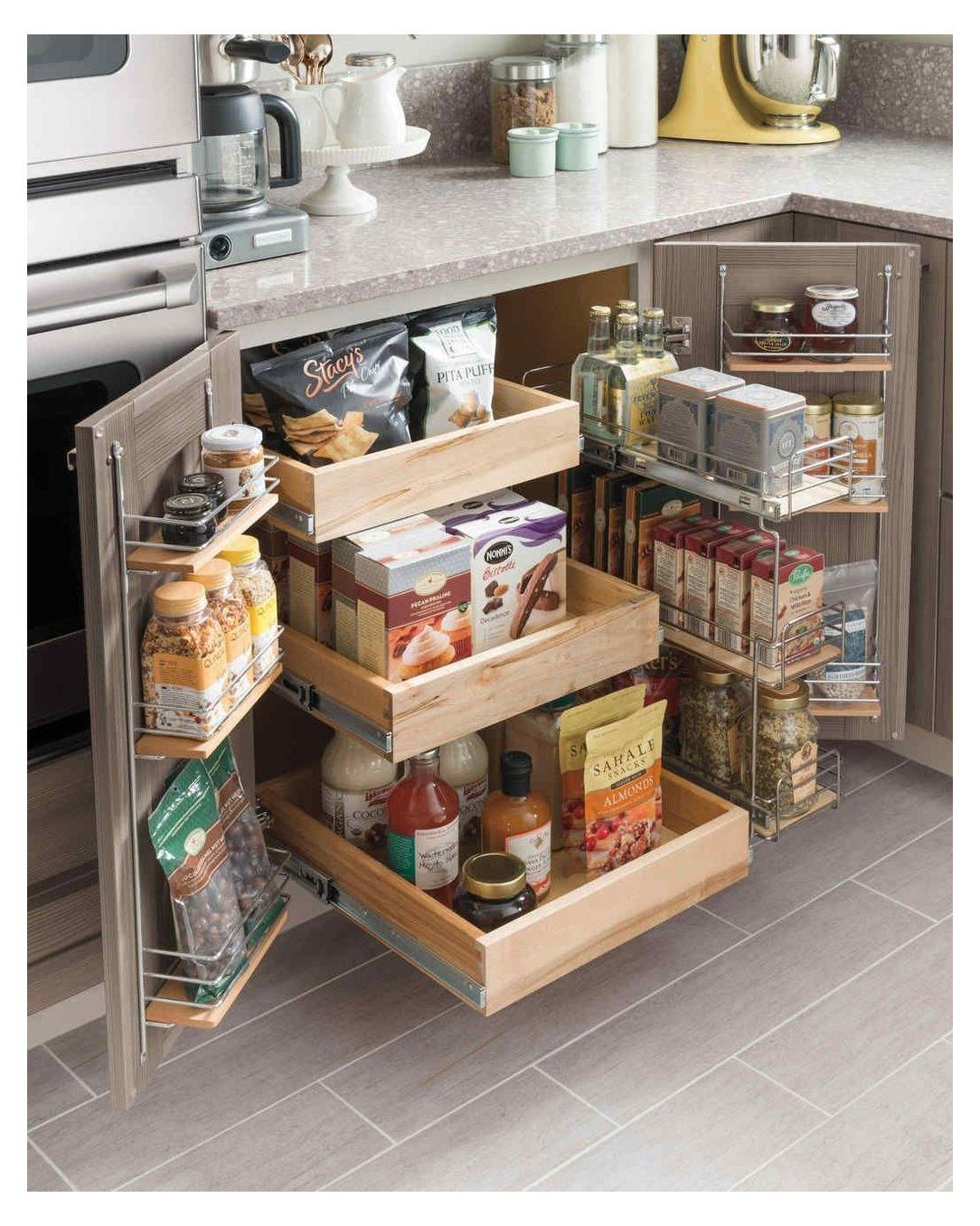30 Awesome Small Kitchen Storage Ideas - Image 11 of 30 #kitchenstorage