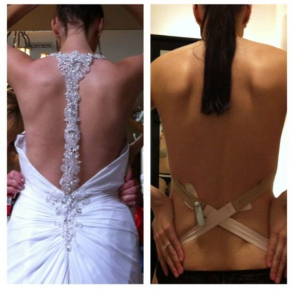 Bra to wear with backless wedding dress