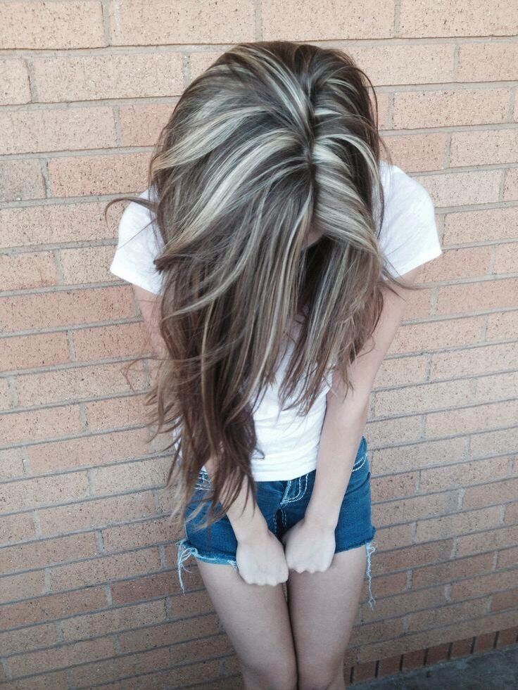 Brown Hair With Blonde Lowlights Hair Beauty Pinterest